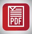 pdf file design vector image