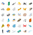 policy icons set isometric style vector image vector image