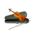 realistic violin isolated white background vector image vector image