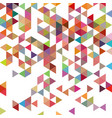 retro pattern of geometric shapes colorful-mosaic vector image