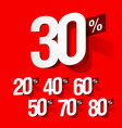 sale percents vector image vector image