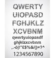 Scribble alphabet with pen sketch effect vector image