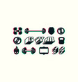 Set of icons and badges for gym club vector image