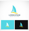 shark fin abstract logo vector image vector image
