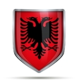 Shield with flag Albania vector image