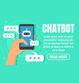 smartphone chatbot concept banner flat style vector image
