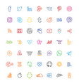 social media icons line vector image vector image