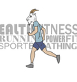 Sport man running vector image vector image