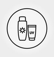 sunscreen lotion icon editable thin vector image vector image