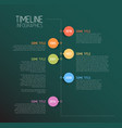 teal infographic timeline report template vector image vector image