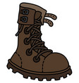 the brown leather high lacing shoe vector image vector image