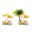 travel and summer beach vacation relax icon vector image
