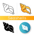 tulip shell icon vector image vector image