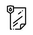waterpromaterial file thin line icon vector image