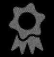 white pixel award icon vector image vector image