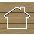 Wood House vector image vector image