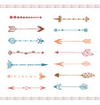 hand drawn arrows collection colorful ethnic set vector image