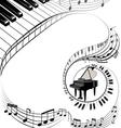 Muzic theme background vector image