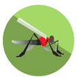 Flat Mosquito vector image
