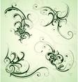 Floral swirls set vector image