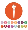 The torch icon Torch symbol Flat vector image