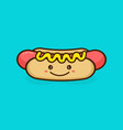 cute happy smiling tasty hot dog vector image