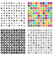 100 hardware store icons set variant vector image vector image