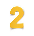 number two yellow abstract design isolated on