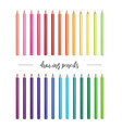 26 realistic colored pencil set on isolated vector image