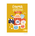 a4 size movie poster cinema placard flat design vector image