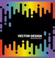 abstract rainbow pulse music player on black vector image