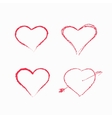 Abstract white heart shapes set vector image vector image