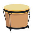 african drum music instrument realistic icon vector image vector image