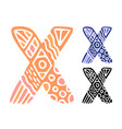 alphabet letter x kids education poster or vector image vector image