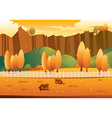 Autumn landscape vector | Price: 3 Credits (USD $3)