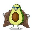 avocado exhibitionist in raincoat pop art vector image