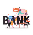 banking business concept for web banner vector image