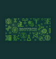 biotech green outline banner - science vector image vector image