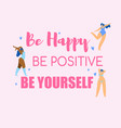 body positive girl power concept active lifestyle vector image vector image