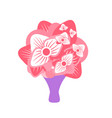bouquet with flowers and special wrapping vector image vector image
