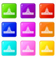 capitol icons 9 set vector image vector image