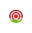 care target logo icon design vector image vector image