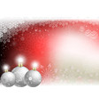 christmas red background with christmas white vector image vector image