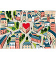 city of love where everyone loves vector image