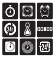 Clocks time icons set vector image vector image