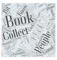 Comic Book Collections Word Cloud Concept vector image vector image