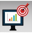 computer business statistics isolated icon design vector image vector image