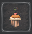 cupcake muffin of bakery design vector image vector image