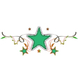 decorative star vector image vector image