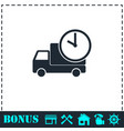 Delivery time icon flat